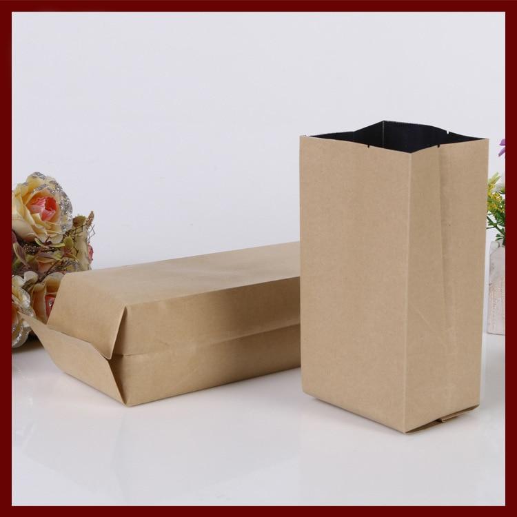 9*28+7cm 100pcs kraft paper Organ bag for gift/tea/candy/jewelry/bread Packaging Paper food bag diy Jewelry Pack Display