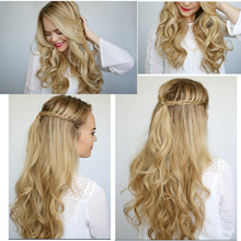 17 Colors Long Wavy Fiber Synthetic Clip in Hair Extensions