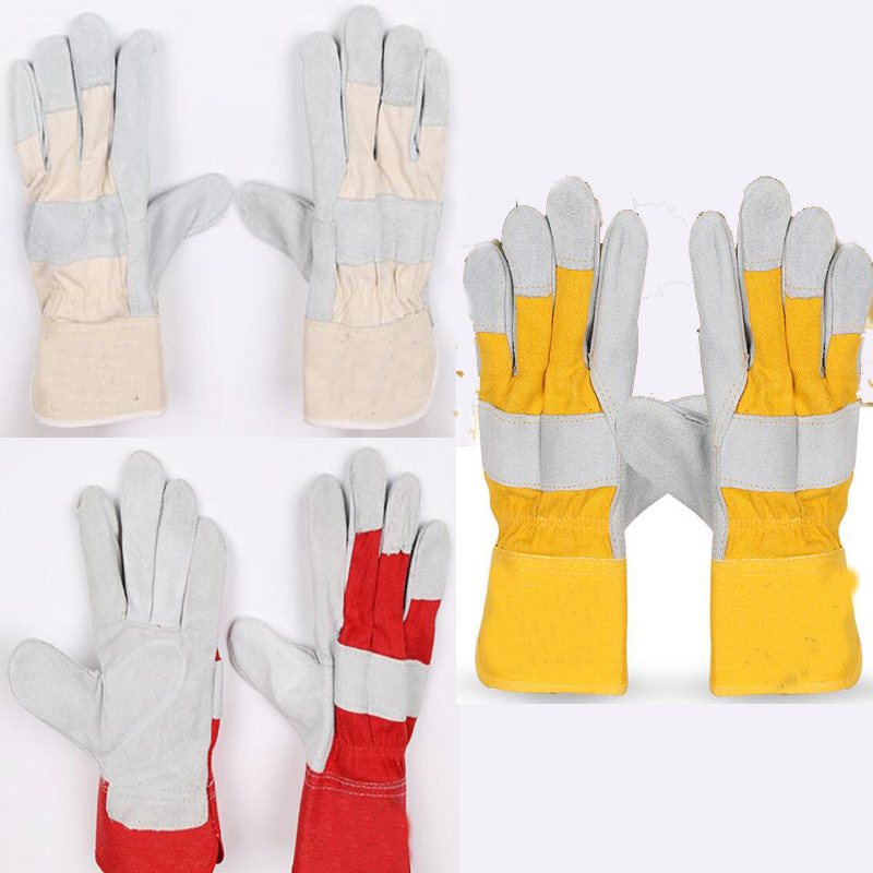 2017 New Leather stitching long welding gloves tig welding gloves mig welding gloves safety gloves 3 color Sale at low prices цена и фото