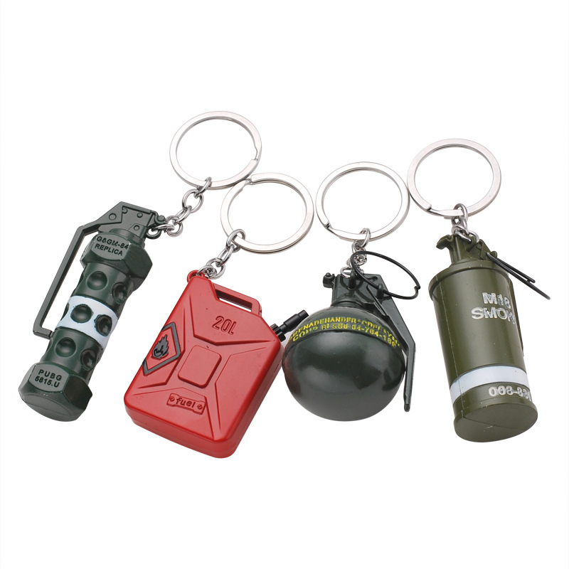 2019 Women And Men Jedi Survival Escaping Dizzy Grenade Smoke Bombs Debris Hand Gun Weapon Toy Bucket Keychain Sent To Friend