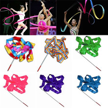 Stick Ribbons Ballet-Streamer Twirling-Rod Training Rhythmic Art 4M for Gym Professional