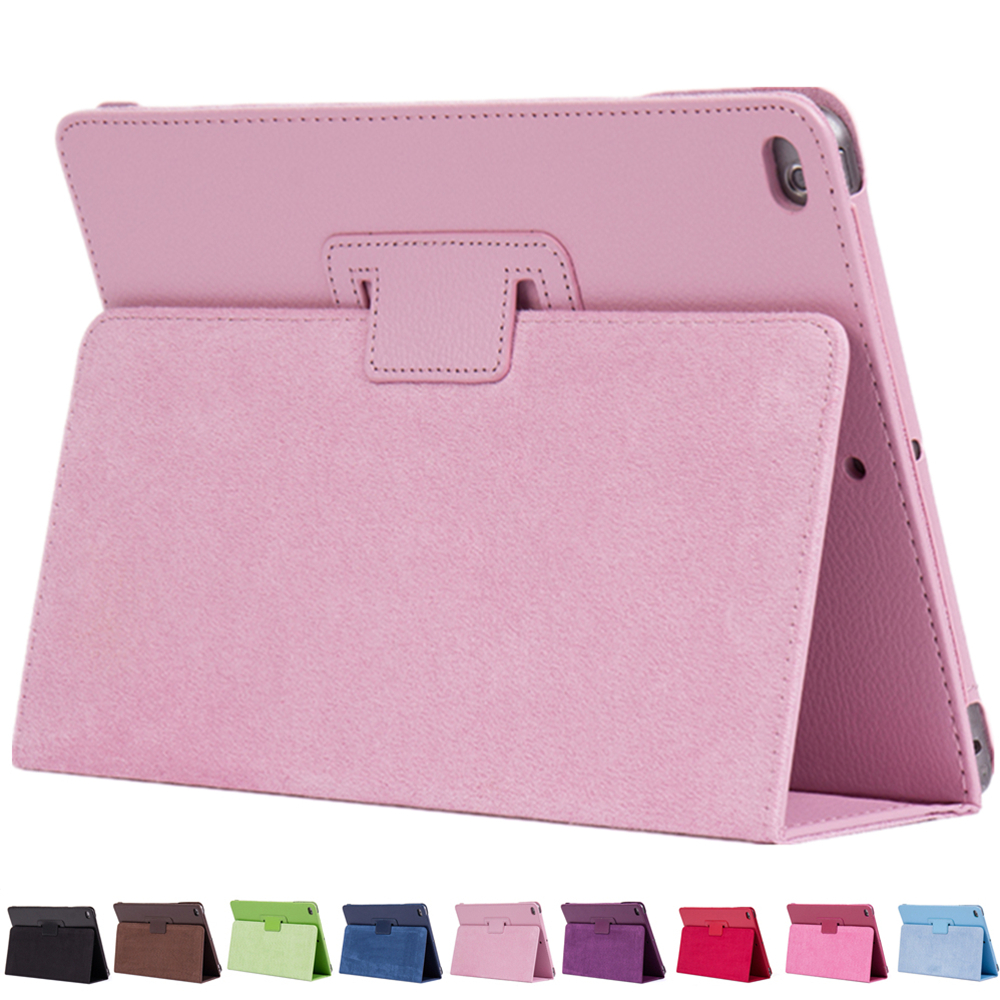 PU Leather For Apple iPad Mini 4 Smart Case Litchi Pattern Flip Matte Cover For iPad mini 4 With Stander holder