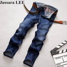 2016 Осень Зима джинсы марка тонкий мужчины джинсы эластичный высокое качество длинные брюки брюки