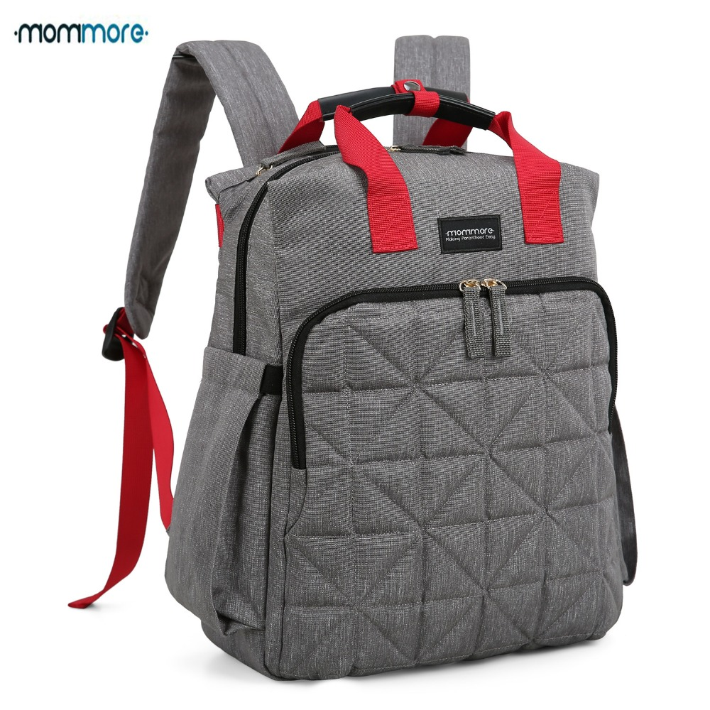 mommore Waterproof Travel Diaper Bag with Changing Pad Baby Stroller Diaper Backpack Nursing Bag for Baby