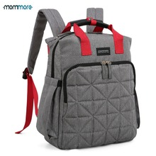 лучшая цена mommore Waterproof Travel Diaper Bag with Changing Pad Baby Stroller Diaper Backpack Nursing Bag for Baby Care Wet Bag for Baby