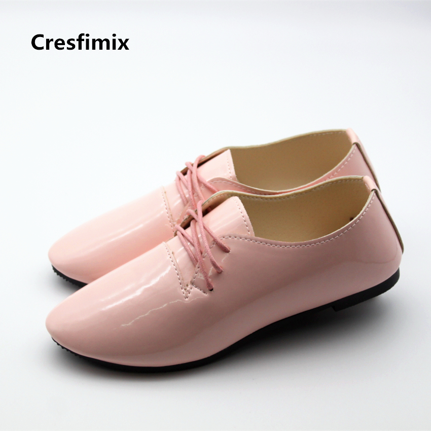 Cresfimix zapatos de mujer women cute pink pu leather point toe flat shoes lady casual street flats female cool & leisure shoes cresfimix sapatos femininos women casual soft pu leather pointed toe flat shoes lady cute summer slip on flats soft cool shoes