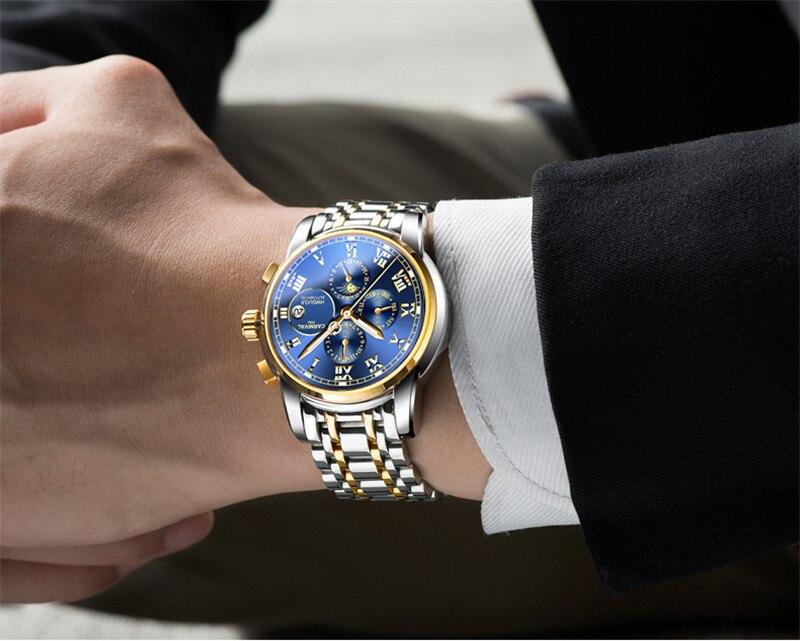 Business Men Watch Carnival Top Brand 6 Hand Multifunction Mechanical Watches Luminous Roman Numerals Waterproof Wrist watch - 4