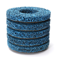 5pcs Blue Poly Strip Wheels Paint Rust Removal Clean Angle Grinder Discs 110 21 13mm For