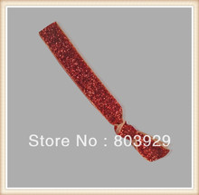 5 8 Elastic Orange Glitter Ribbon Hair Ties