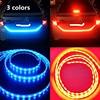 3 Colors Ice Blue Red Yellow Rear Trunk Tail Light LED Strip Light Dynamic Streamer Brake