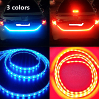 3 Colors Ice Blue Red Yellow Rear Trunk Tail Light LED Strip Light Dynamic Streamer Brake
