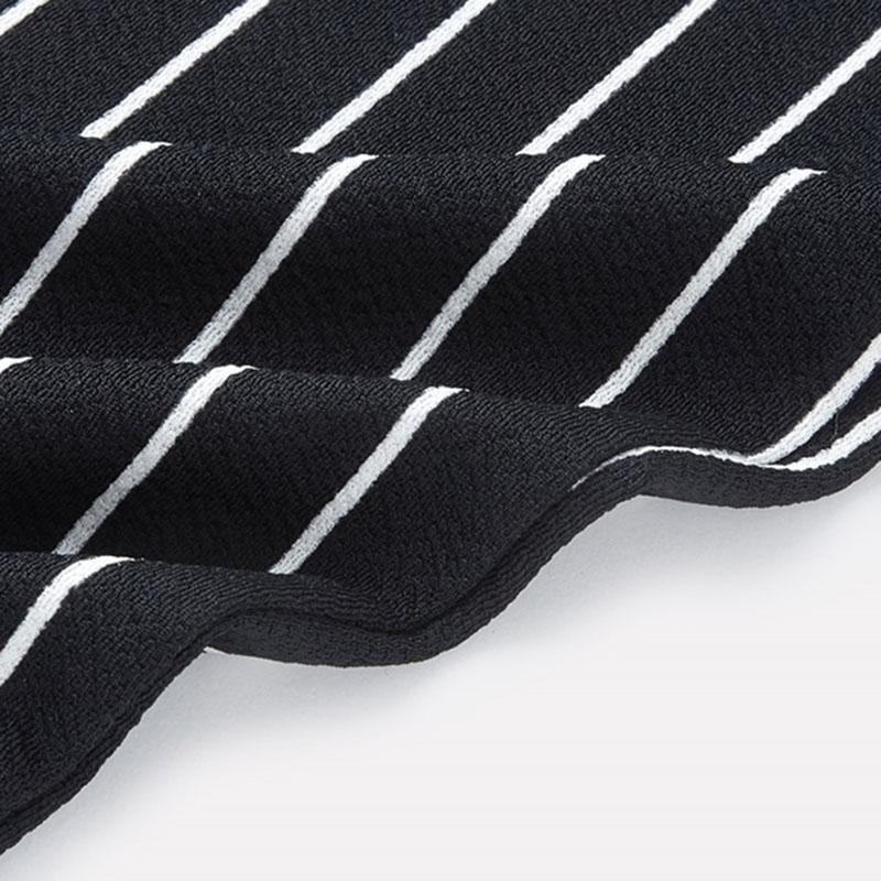 SHEIN Vertical Striped Skinny Pants Women Elastic Waist Pocket OL Style Work Trousers 18 Spring Mid Waist Long Pencil Pants 14
