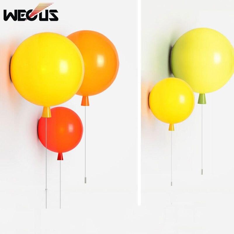 ФОТО (Wecus) Novelty fashion balloon wall lamps,baby children room lights,350mm balcony bedside dining room bathroom lighting lamps