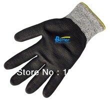 Рабочие перчатки на водной основе PU ESD перчатки порезов безопасности перчатки HPPE анти-вырезать рабочая перчатка