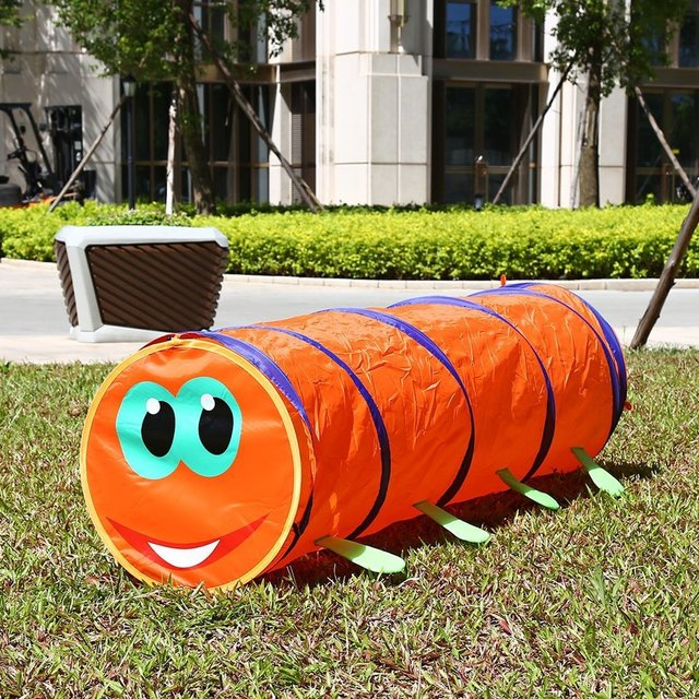 Childrenu0027s Tent Caterpillar Crawling Animal Tunnel Baby Puzzle Toys Indoor and Outdoor Kids Play Tent Christmas & Childrenu0027s Tent Caterpillar Crawling Animal Tunnel Baby Puzzle ...