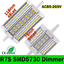 R7S LED Lamp SMD5730 15W 25W 30W R7S 78mm 118mm 135mm LED corn Light LED R7S spotlight Bulb Energy Saving Replace Halogen Lamp