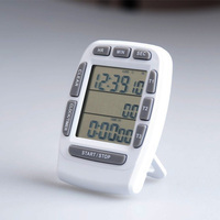 Large LCD screen kitchen timer, three channel kitchen timer, alarm clock kitchen timer, with support, free shipping