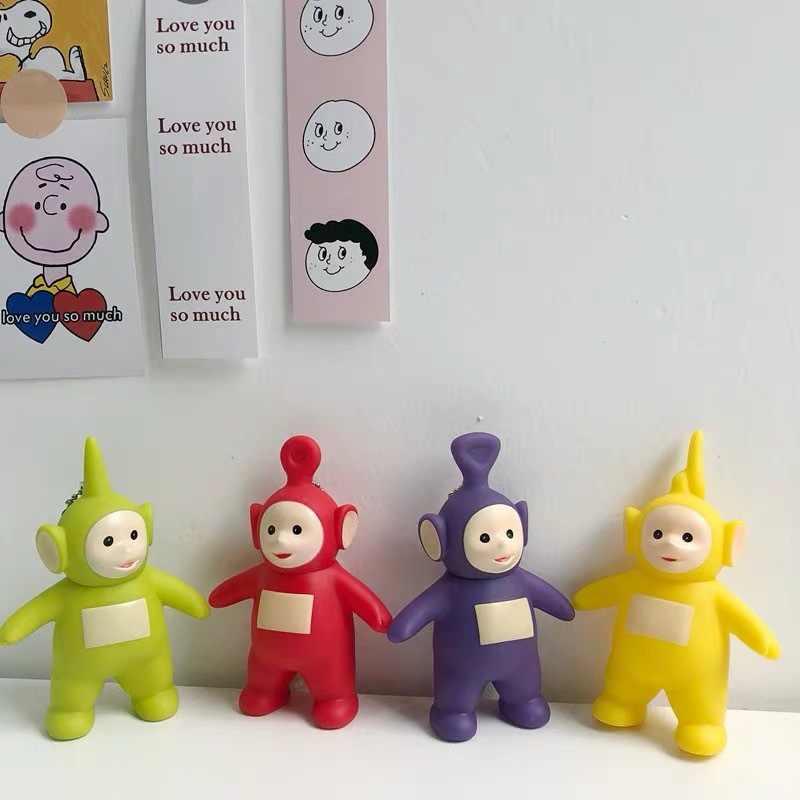 2019 nova marca original dos desenhos animados teletubbies boneca chaveiro para crianças presente de natal chaveiro figura ação brinquedos dos desenhos animados quentes