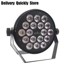 купить Fast Delivery 18pcs 10W RGBW 4 IN 1 Flat Led par light 8 channels  to change color good use for DJ Party Home entertainment по цене 3595.24 рублей