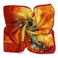 [LESIDA] Moda Para Mujer Foulard Cachecol Satén, 52*52 cm Pequeña Plaza 100% Pañuelos de Seda de Verano bufanda Foulard FemmeXF1040