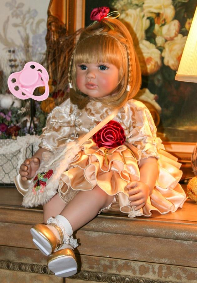 60 cm Silicone Reborn Baby Doll Giocattoli Per I Bambini Delle Ragazze Bonecas 24 inch Principessa Bambini Del Vinile Del Bambino Vivo Bebe Di Compleanno presente