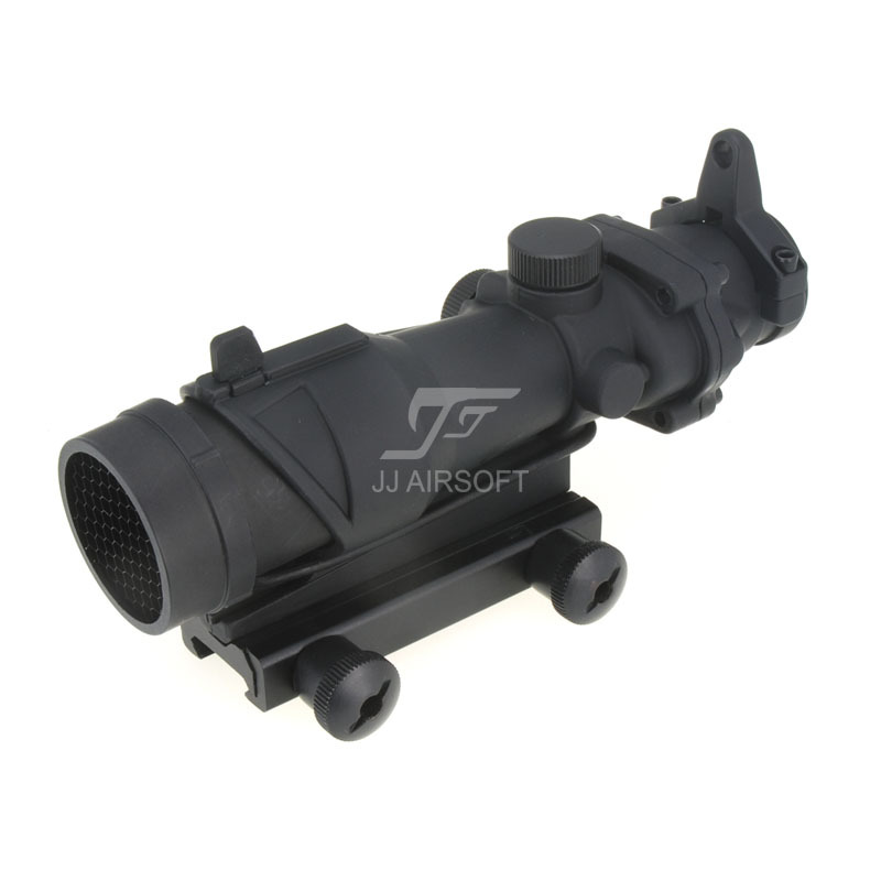 JJ Airsoft ACOG Style 4x32 Scope with Killflash / Kill Flash (Black) FREE SHIPPING(ePacket/HongKong Post Air Mail) jj airsoft acog style 4x32 scope with qd mount with killflash kill flash tan free shipping epacket hongkong post air mail