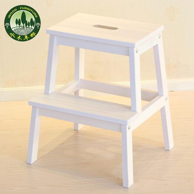 Mizuki en madera de abedul escalera taburete taburete - Taburete escalera madera ...