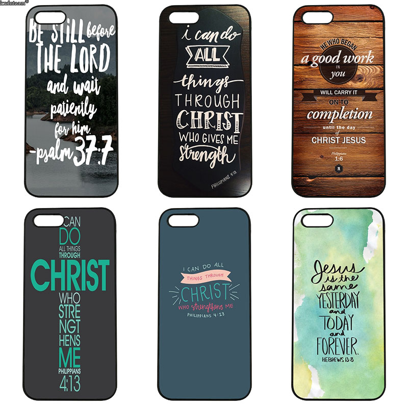 Bible Verse Philippians Cell Phone Cases Hard PC Plastic Cover for iphone 8 7 6 6S Plus X 5S 5C 5 SE 4 4S iPod Touch 4 5 6 Shell
