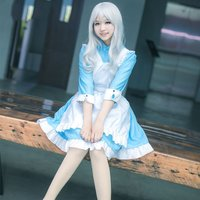 Kagerou Project MekakuCity Actors Kozakura Mari Costume Cosplay Lolita Maid
