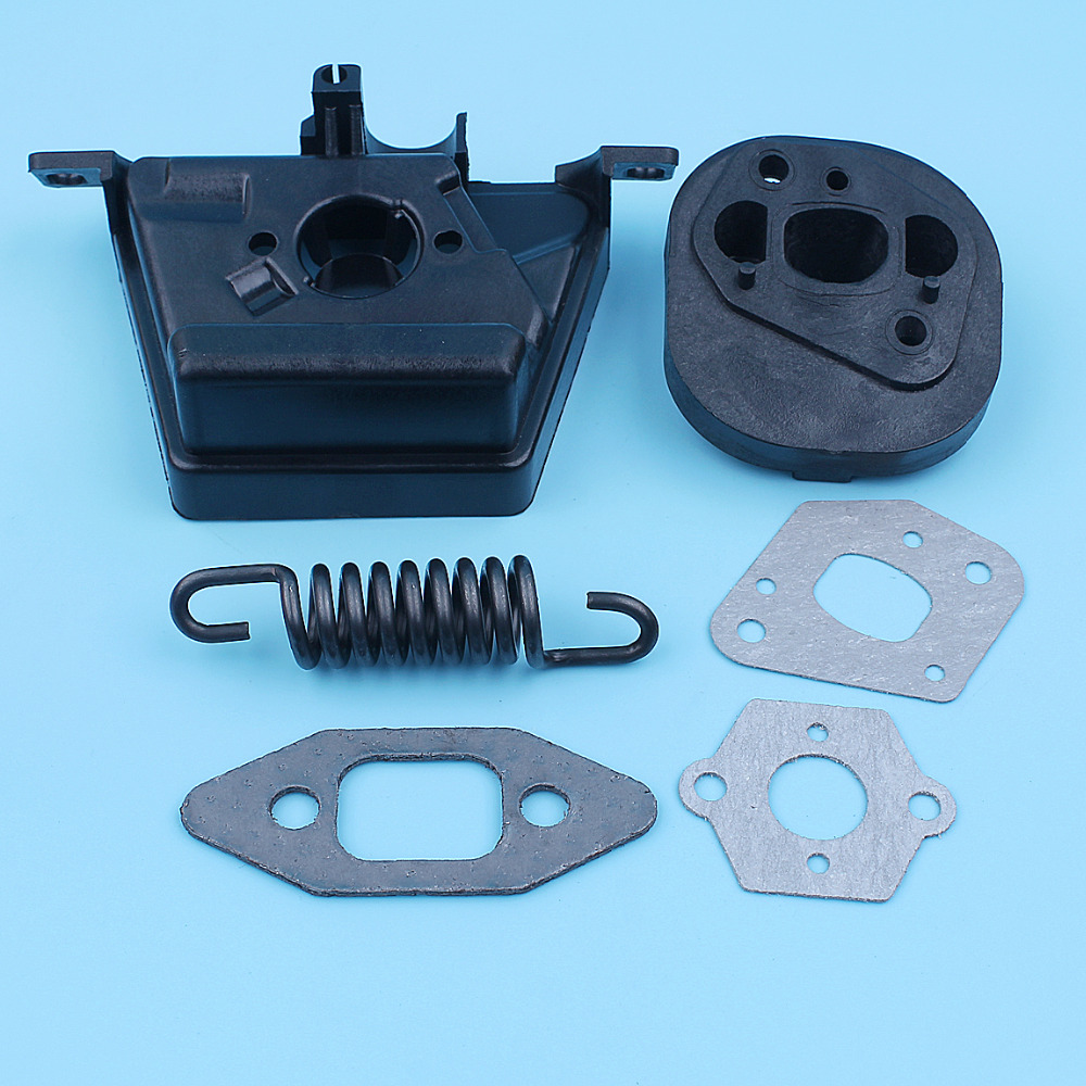 Carb Intake Manifold Insulator Gasket Spring Kit For <font><b>MCCULLOCH</b></font> MAC CAT <font><b>335</b></font> 435 440 <font><b>Chainsaw</b></font> Air Filter Bracket Spare Part image