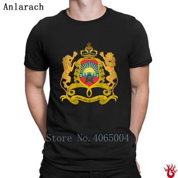 Coat Of Arms Of Morocco Svg T-Shirt Hip Hop Pattern Round Collar Tshirt For Men Spring Autumn Anti-Wrinkle Building Normal 1
