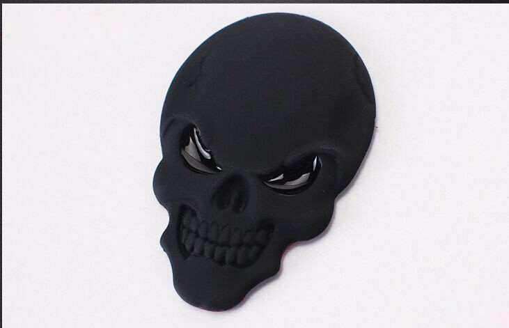 DSYCAR 3D Metal Skull Car Sticker Logo Emblem Badge Decals Car Styling for Fiat Bmw Ford Lada Audi opel volvo Honda Toyota Benz 16