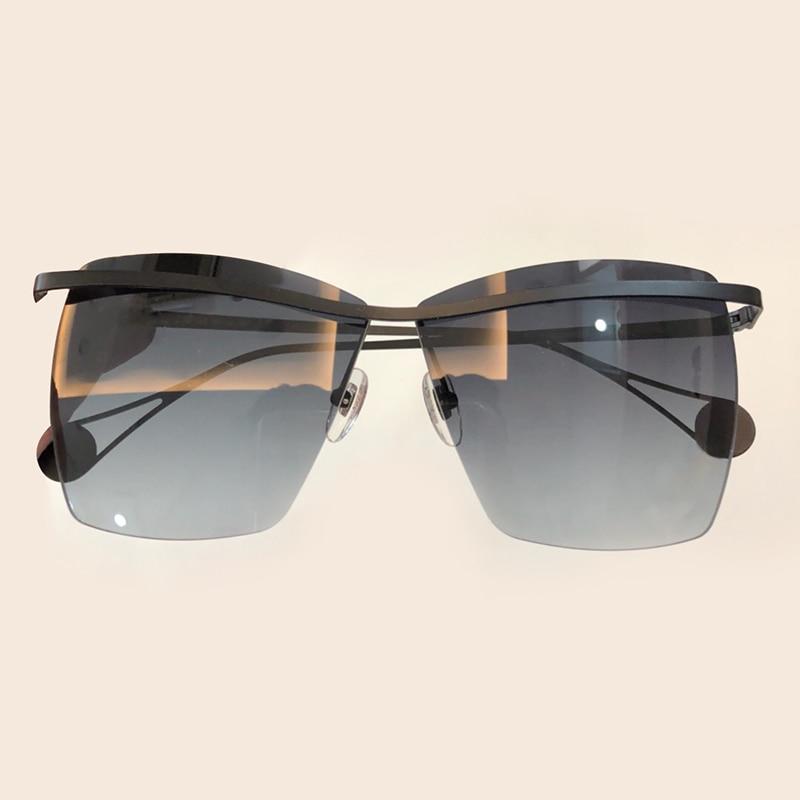 Brillen Designer Shades no Mode Frauen Sunglasses Qualität No no Neue Sonnenbrille Sunglasses Marke Sunglasses Randlose 2 Sunglasses 3 Gradienten Hohe Objektiv Uv400 4 1 no w7qHtX