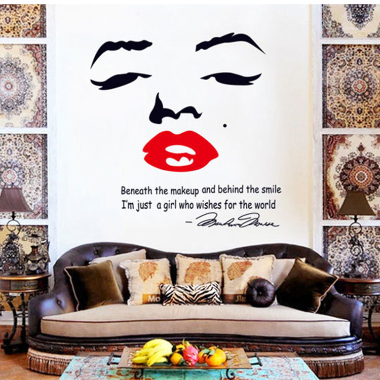 Hot Sale Home Decor Diy Wall Stickers Art Sexy Marilyn