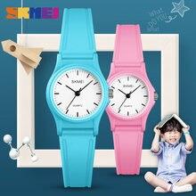 Модные детские кварцевые часы skmei водонепроницаемые наручные