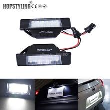 Hopstyling 2x Ошибка Бесплатный ксеноновые Белый светодио дный лицензии пластины для Nissan Qashqai Pathfinder R51 JUKE Primera P12 X-trail автомобиля лампа