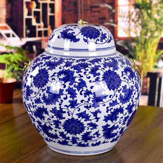 Chinese Reproduction Ceramic Ginger Jar Vase Antique Porcelain Temple Jars Home Decoration With Lids