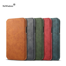 NeWisdom Official original for iPhone X case Leather Folio Wallet Cases Apple iPhoneX Card Slot flip iphone Xs max cover xr