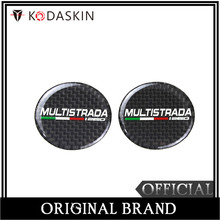 KODASKIN Motorcycle 3D Carbon Timing Belt Cover Front and Rear Round Decal for Ducati MULTISTRADA1260