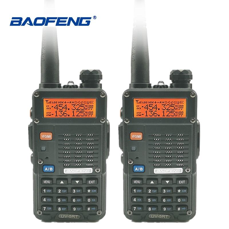 2 pcs Baofeng UV-5RT Talkie Walkie VHF UHF 2 Way Radio Portable Ham Radio Amateur Hf Émetteur-Récepteur UV-5R Plus De Poche talki Walki