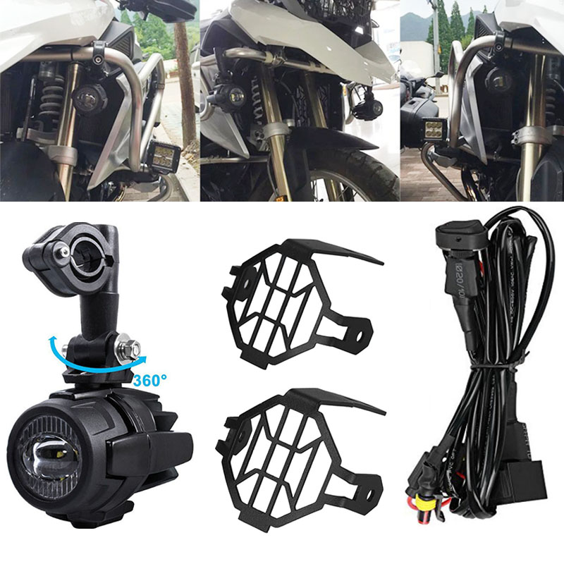 Auxiliary Fog Lights 40W LED Assembly Combo Motocycle For BMW R1200GS ADV F800GS R1100GS Motorbike Safety Driving LampAuxiliary Fog Lights 40W LED Assembly Combo Motocycle For BMW R1200GS ADV F800GS R1100GS Motorbike Safety Driving Lamp