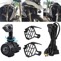 Auxiliary Fog Lights 40W LED Assembly Combo Motocycle For BMW R1200GS ADV F800GS R1100GS Motorbike Safety Driving Lamp