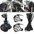 Luces antiniebla auxiliar 40W LED montaje Combo motocicleta para BMW R1200GS ADV F800GS R1100GS motocicleta luz de conducción de seguridad