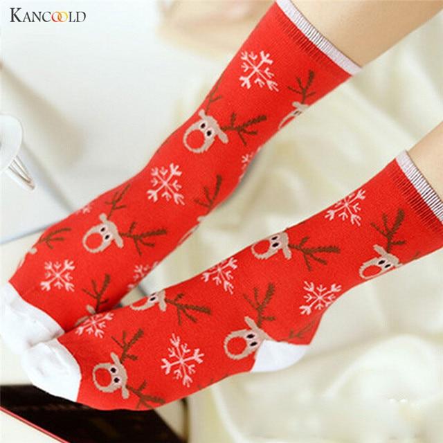 christmas socks women mens cartoon designer knit wool long socks men winter warm ankle socks meias - Christmas Socks For Men