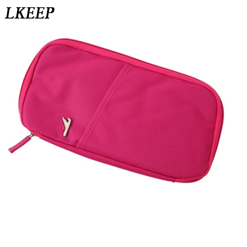 Travel Accessories Storage Bags Wallet For Passport Credit ID Cards Tickets Holder Multicolor Purse Bag Oxford