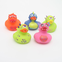 5pcs 2018 NEW set floating ducks Cute Baby Water Bath Toys the dinosaur duck Rubber Duck