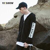 VIISHOW New Black Hoodie Zipper Men Brand Men S Hoodies Solid Sling Male Sweatshirt Fashion Tracksuit