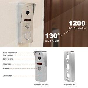 Image 5 - Homefong interfone de vídeo de 10 polegadas, vídeo de 1200tvl, câmera grande angular, campainha, sistema de controle de acesso