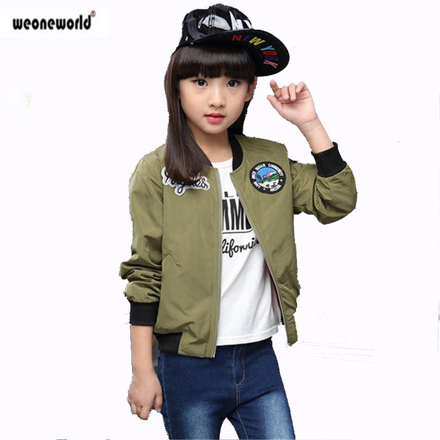 5fec564c5c8f WEONEWORLD New Spring Autumn Jackets for Girls Coat Bomber Jacket ...