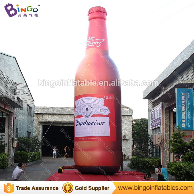 Oktoberfest Decoration Huge Infaltable Whisky Beer Bottle 10M Inflatable Wine Bottle Giant Beer Can for Advertising Beer toys free shipping 10m giant inflatable octopus model with digital printing for advertising blow up squid for decoration show toys